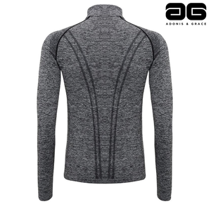 Adonis & Grace Seamless 3D Multi Fit Zip Top Grey