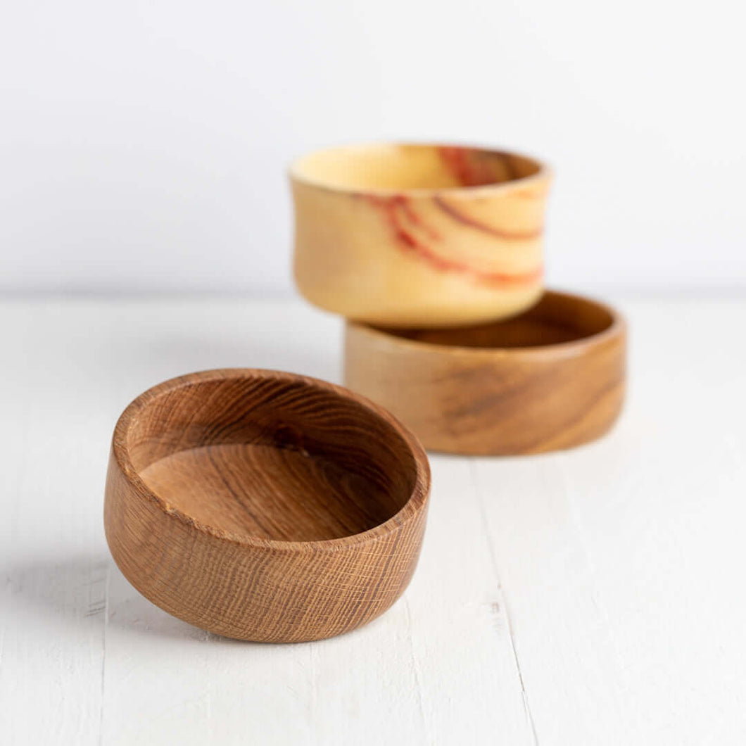 hand tooled wood shave bowls