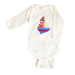 Bodysuit Long Sleeve 1070-Red,white,blue-boating