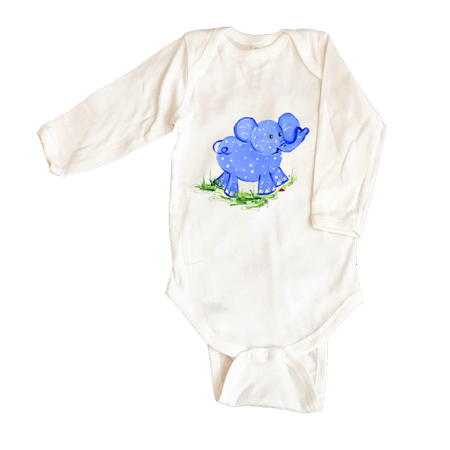 Bodysuit Long Sleeve  250-Blue-Elephant