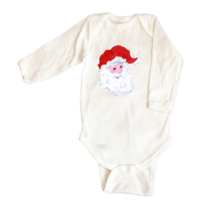 Rib Coverall Infant Baby Christmas 328-Santa-Face