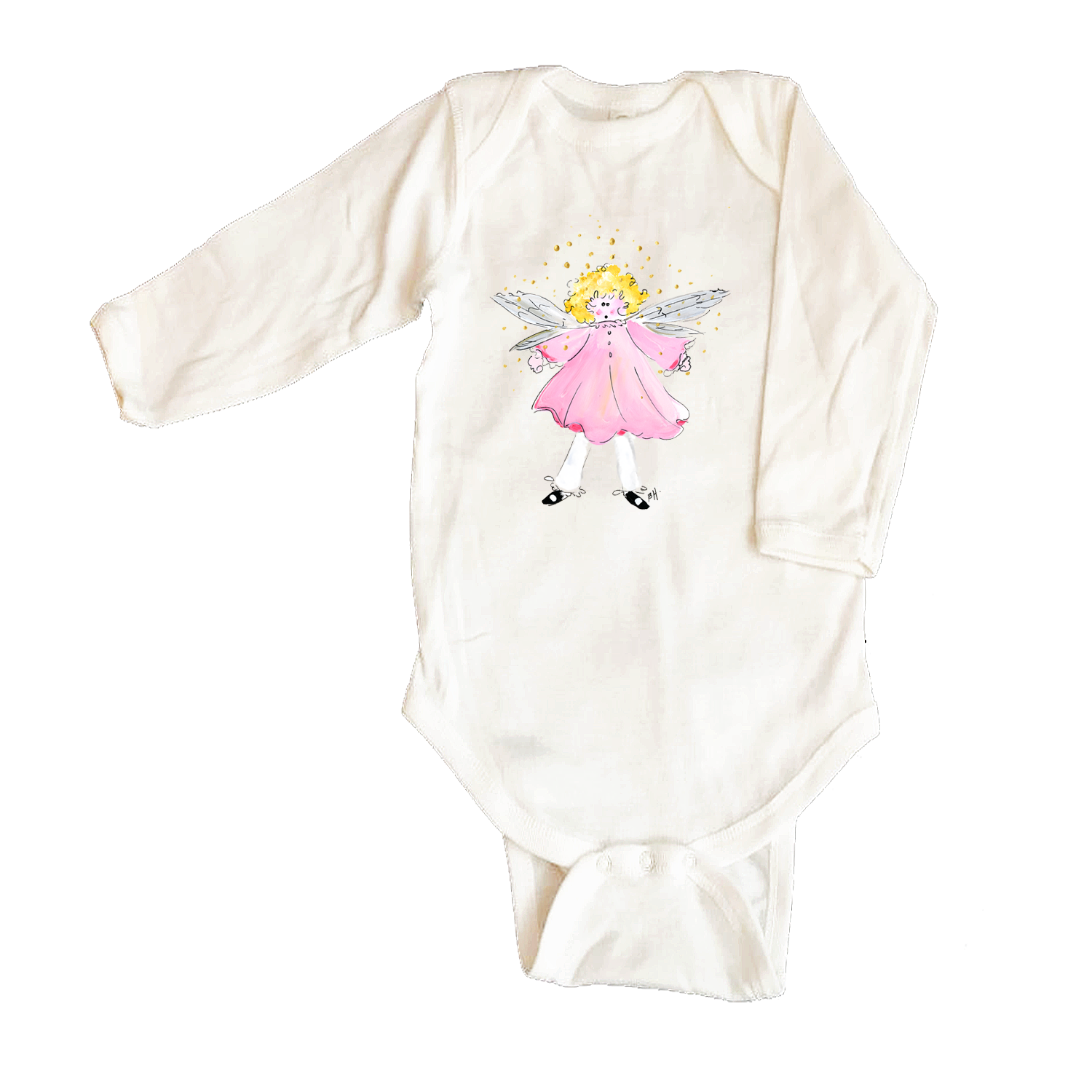 Bodysuit Long Sleeve  42-Pink-Fairy