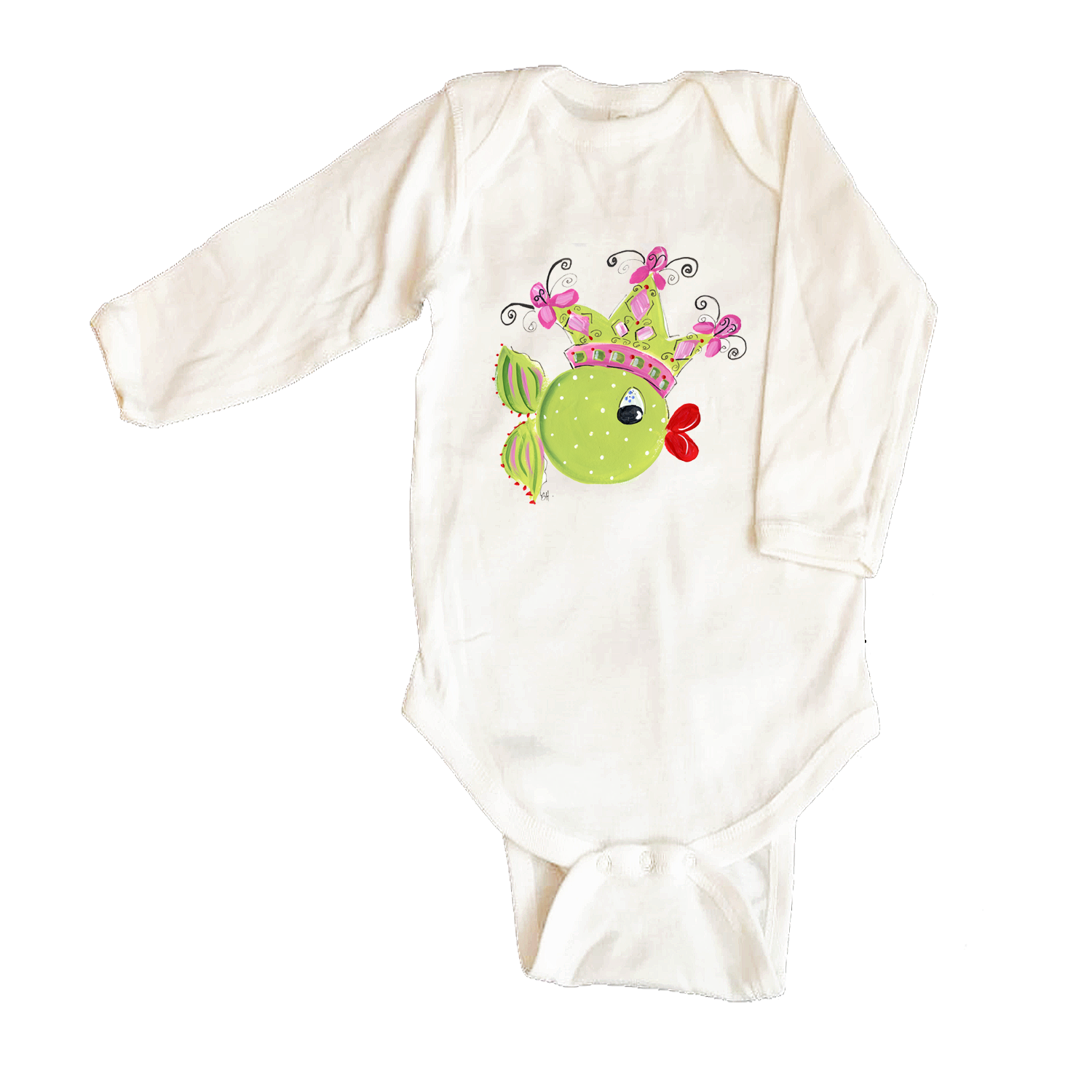 Bodysuit Long Sleeve  443-Princess-Fish-&-Crown