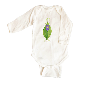 Bodysuit Long Sleeve  452-Pea-in-a-Pod-Girl