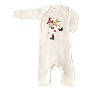 Rib Coverall Infant Baby Christmas 462-Black-Hat-Snowman