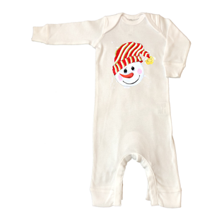 Rib Coverall Infant Baby Christmas 599-Snowman-Head