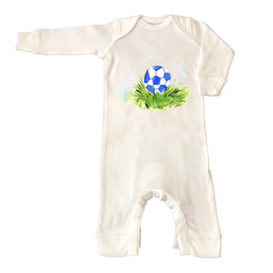Rib Coverall Infant Baby 605-Soccer