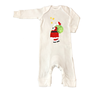 Rib Coverall Infant Baby Christmas 637-Santa-with-Pack