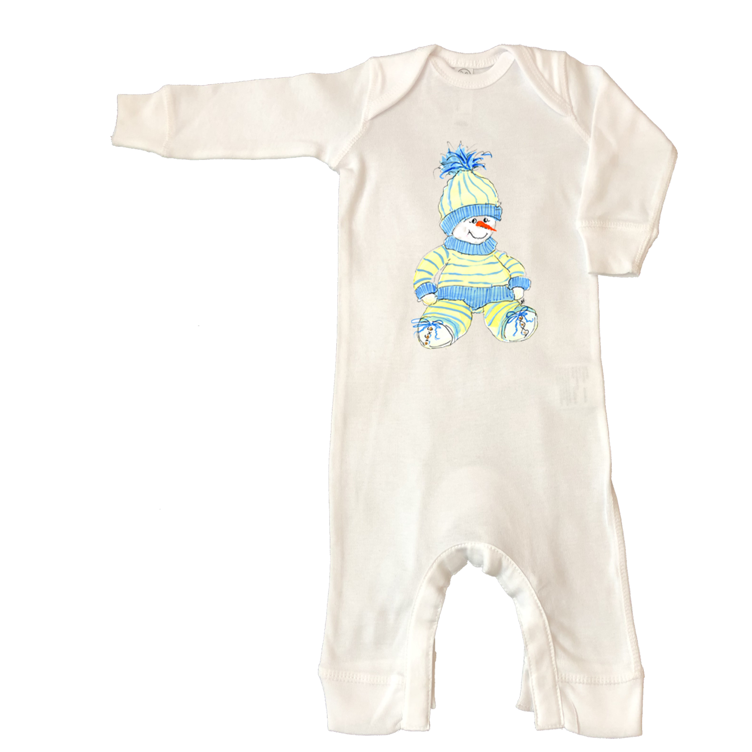 Rib Coverall Infant Baby Christmas 702-Sam-Baby-Snowman