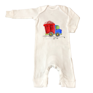 Rib Coverall Infant Baby 863-Dump-Truck