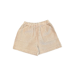 Boys Seersucker Shorts Brown