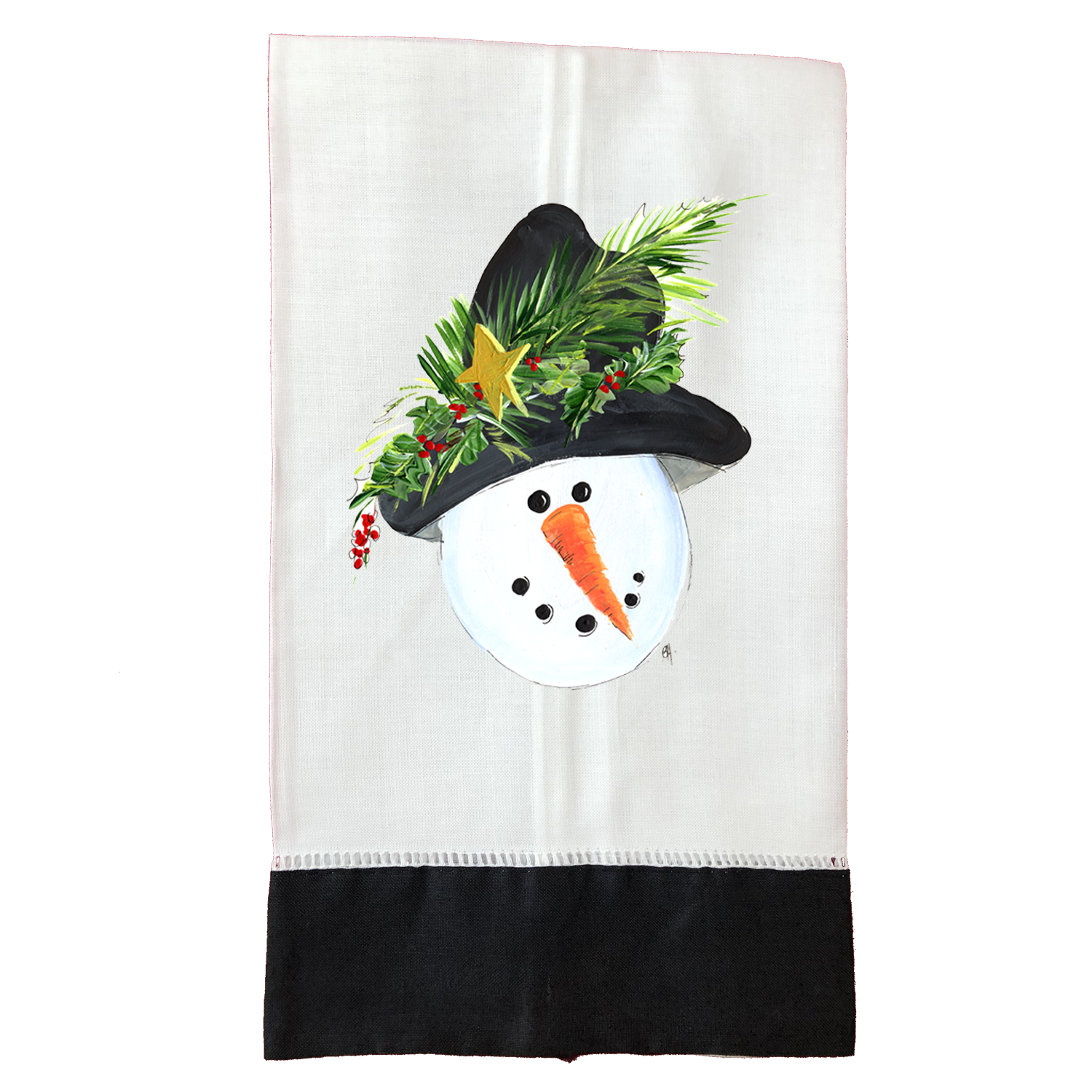 Tea Towel  Christmas T130BLK