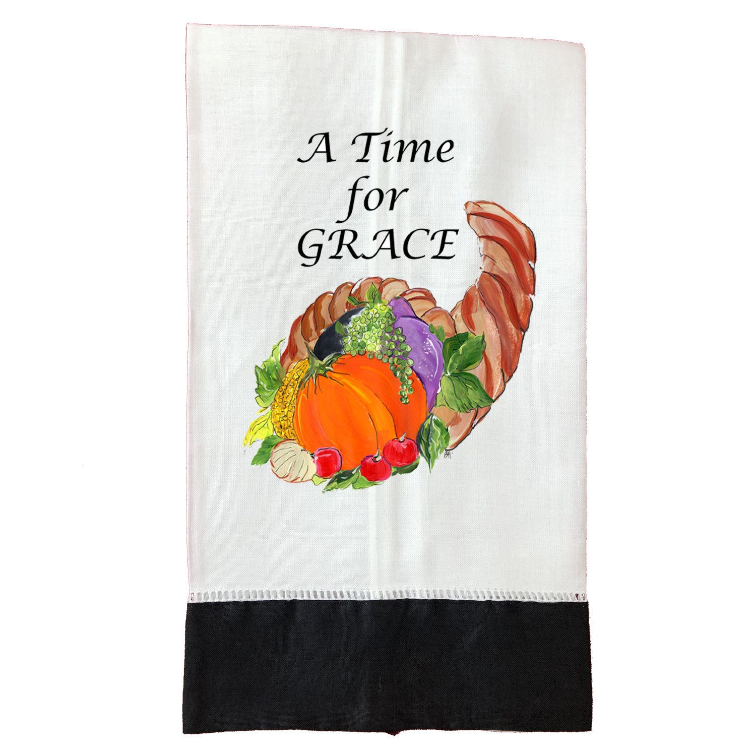 Tea Towel Thanksgiving T195BLK