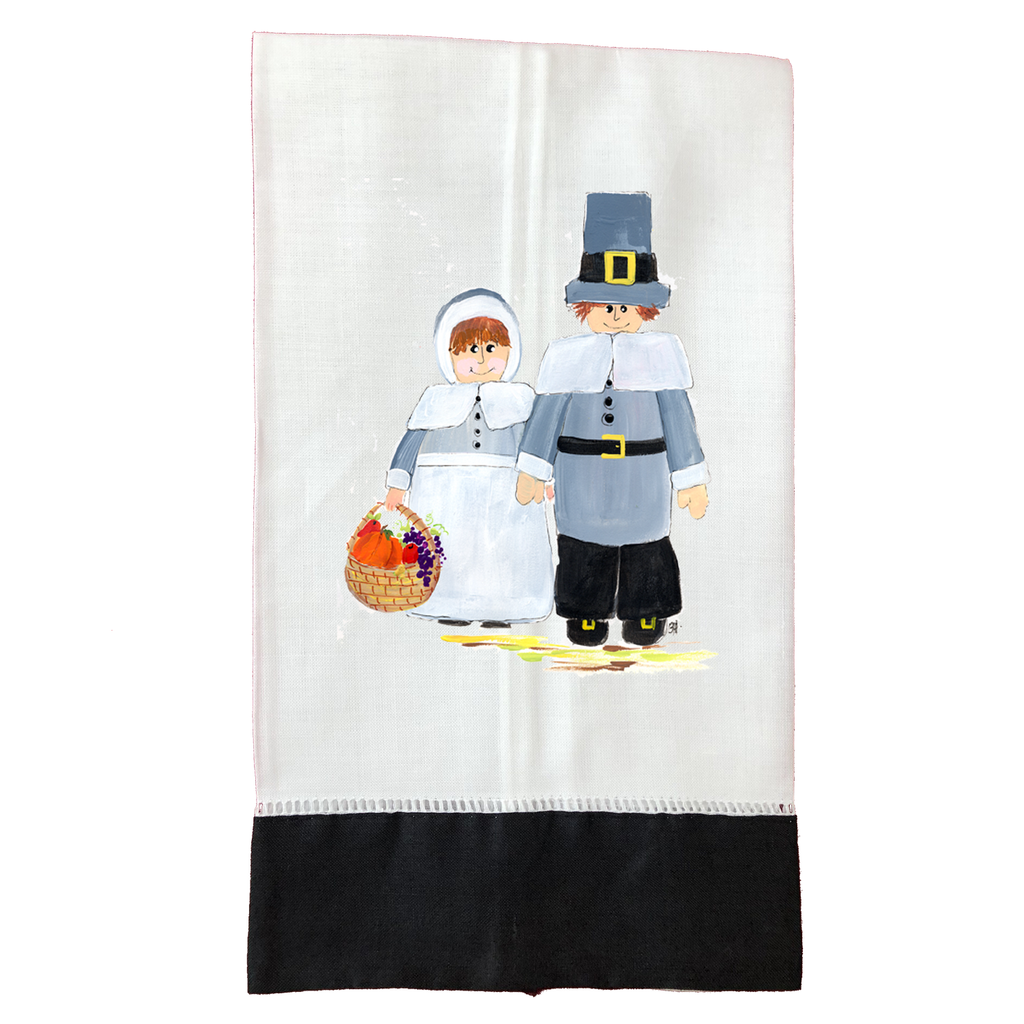 Tea Towel Thanksgiving T382BLK