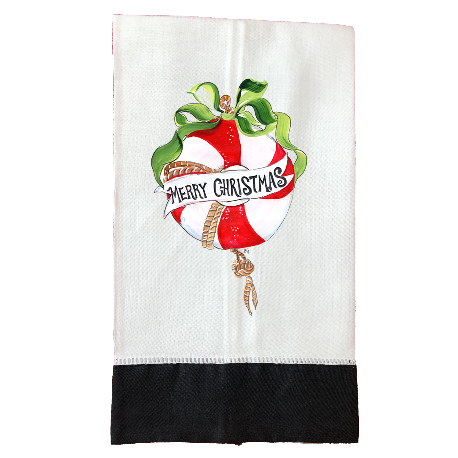 Tea Towel  Christmas T482BLK