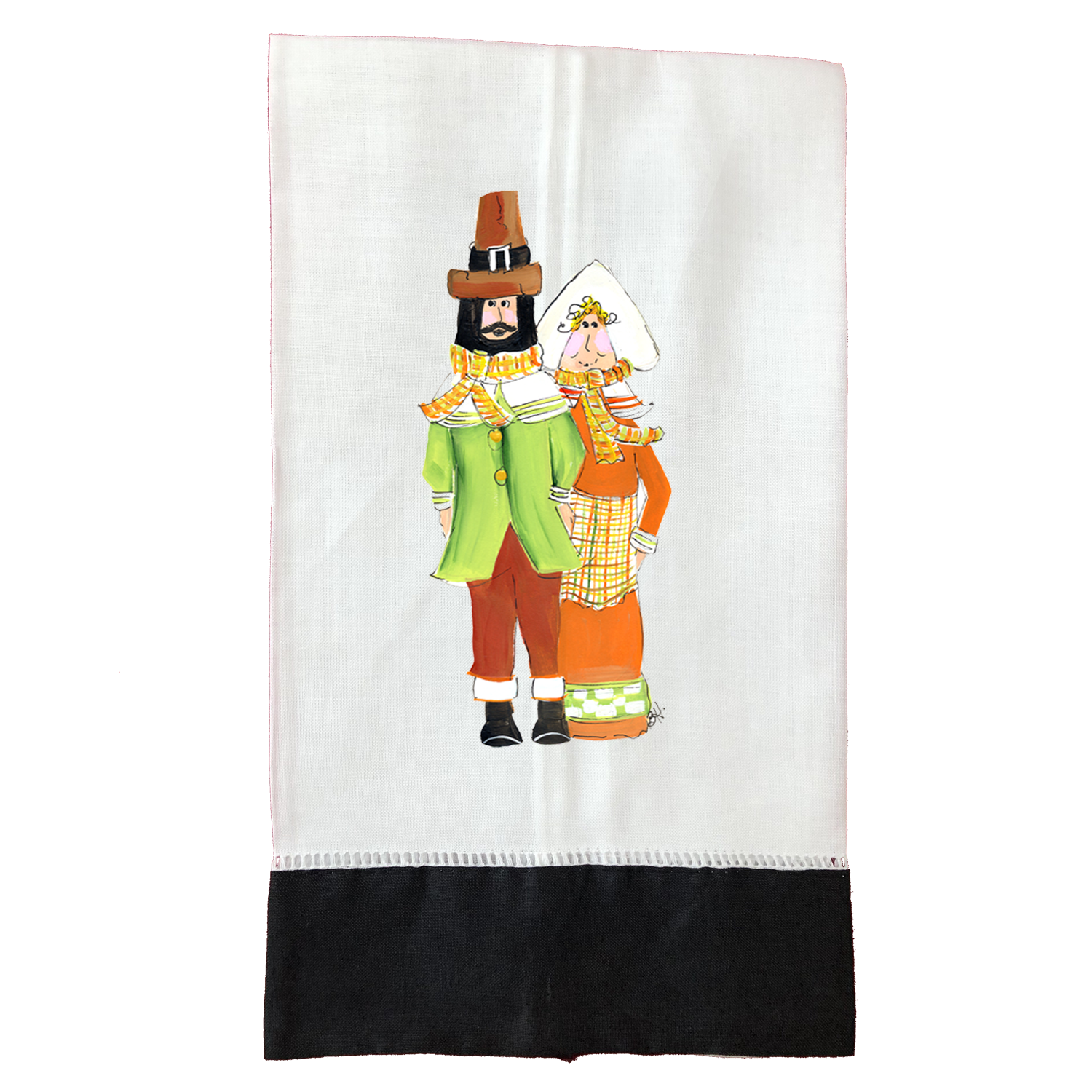 Tea Towel Thanksgiving T653BLK