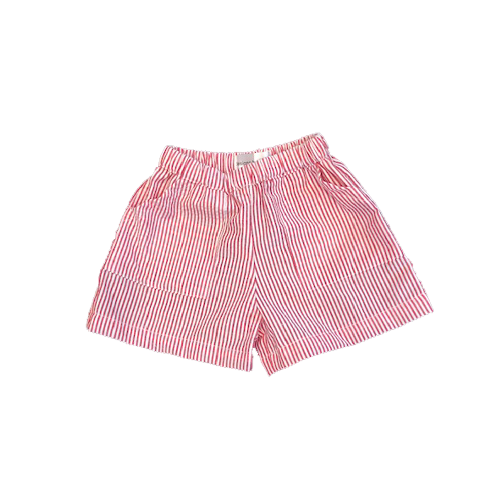 Boys Seersucker Shorts Red