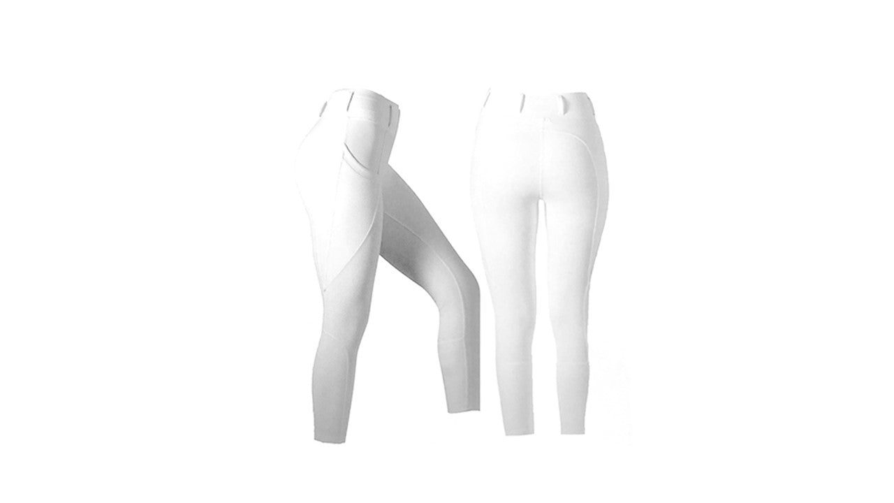 Mark Todd Vegas Ladies Riding Tights White