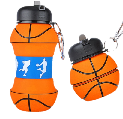 Swirl Silicone Basket Ball Drink Bottle