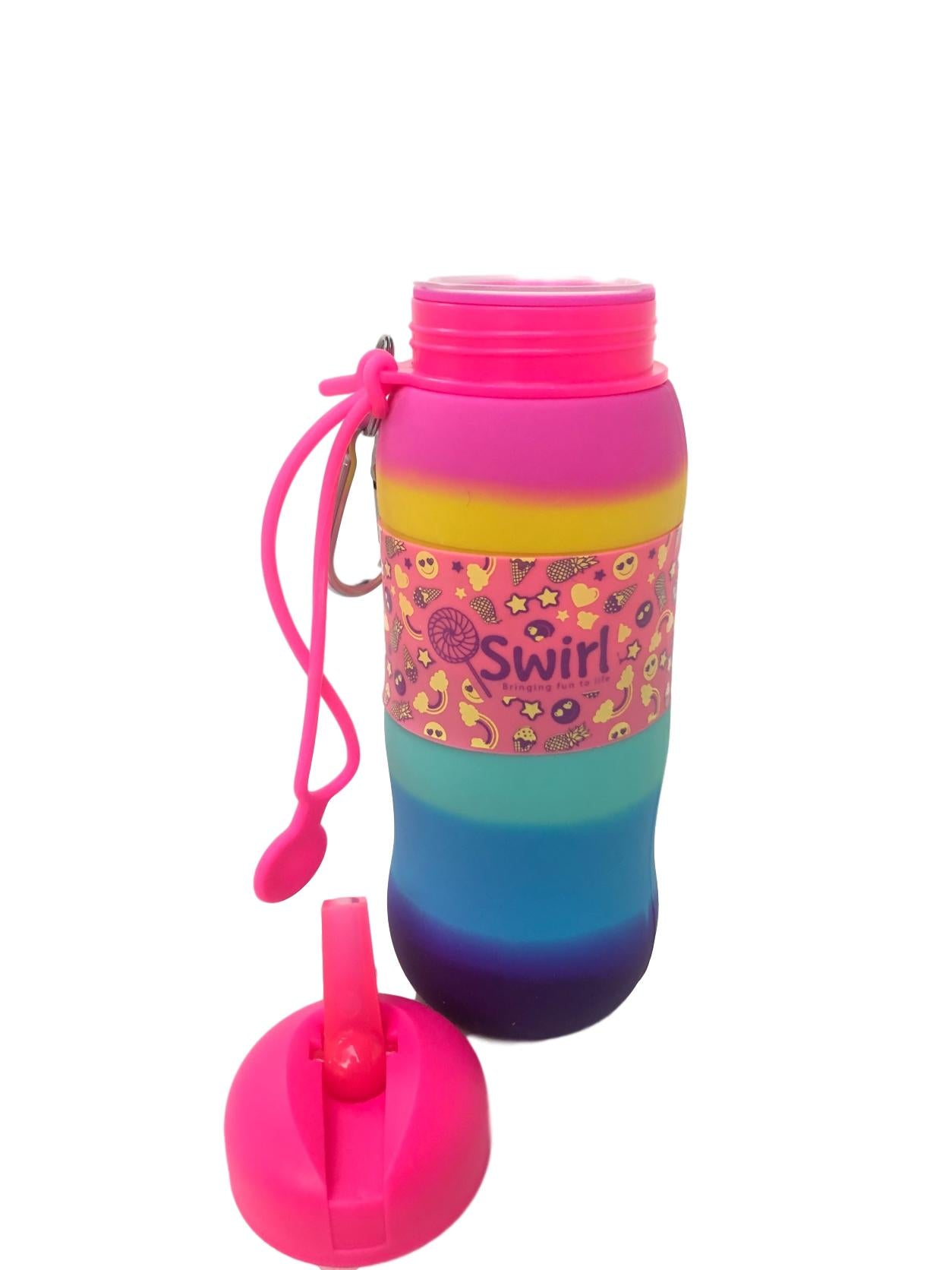 Swirl Pink Emoji Silicone Drink Bottle Back in Stock!