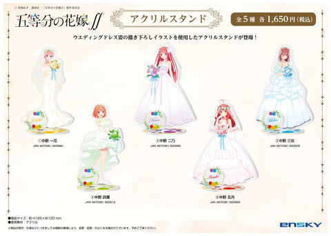 [PRE-ORDER] ENSKY Resale The Quintessential Quintuplets Season 2 Acrylic Stand