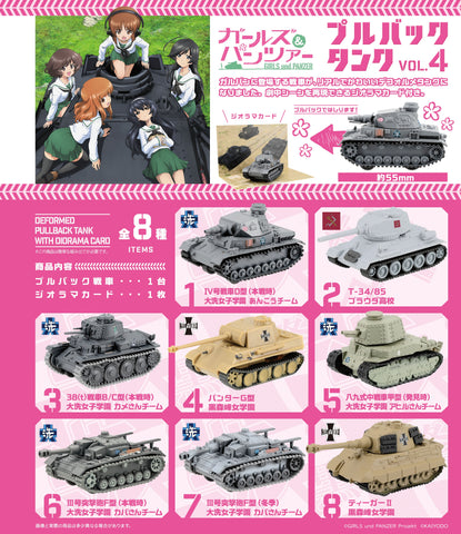 [PRE-ORDER] F-TOYS GIRLS und PANZER Pull Buck Tunk 4 (BOX of 10)