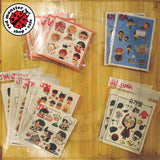 BTS Fanart Sticker Member Set (set of 3 per pack)