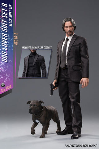 Ace Toyz AT010B 1/6 Scale Dog Lover Suit Black Shirt Version Set