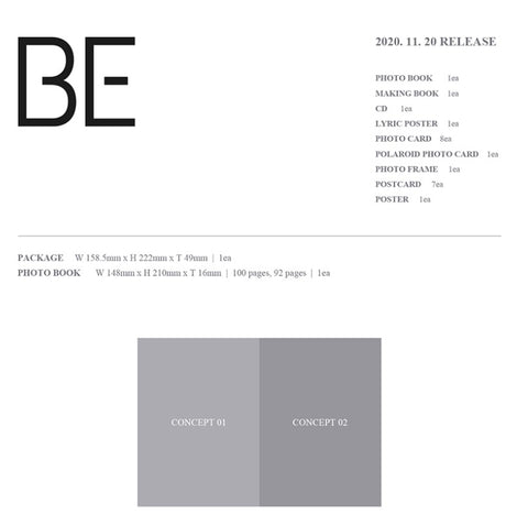 [PREORDER] BTS - BE (Deluxe Edition) Limited