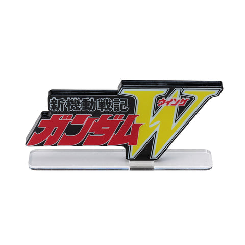 P-BANDAI ACRYLIC LOGO DISPLAY EX New Mobile Suit Gundam W