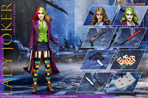 WOLFKING WK89025A 1/6 Scale LADY JOKER Collective Edition