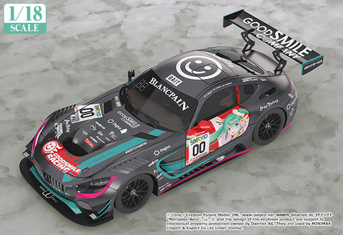 Good Smile Racing 1/18 Scale Hatsune Miku AMG 2017 SPA24H Finals Version - Hatsune Miku GT Project