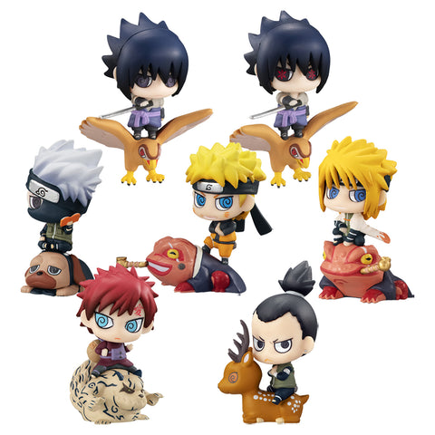 Megahouse Petit Chara Land NARUTO New Color! KUCHIYOSE (SET of 8) with gift + GASHAPON