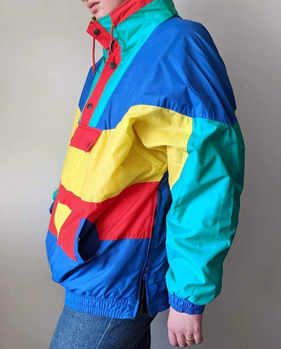 SKI YA LATER VINTAGE PULLOVER COLOURBLOCK SKI JACKET