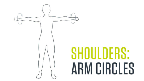 Dynamic stretch for shoulders: arm circles