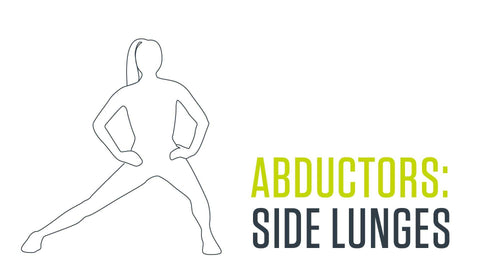 dynamic stretch for adductors: side lunges