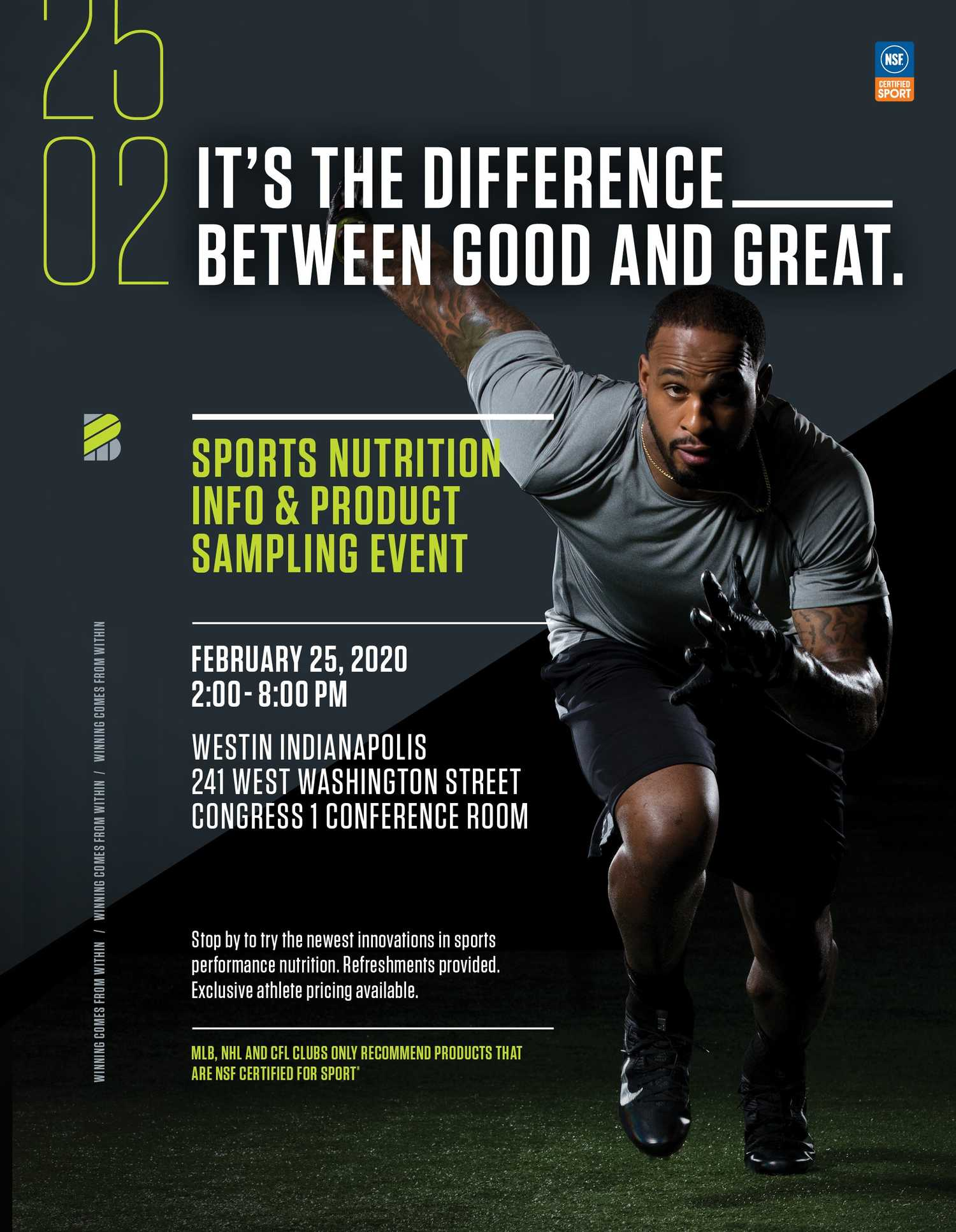 Event info for sports nutrition event