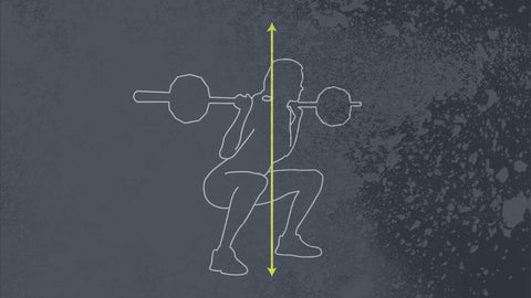 Illustration of squat alignment