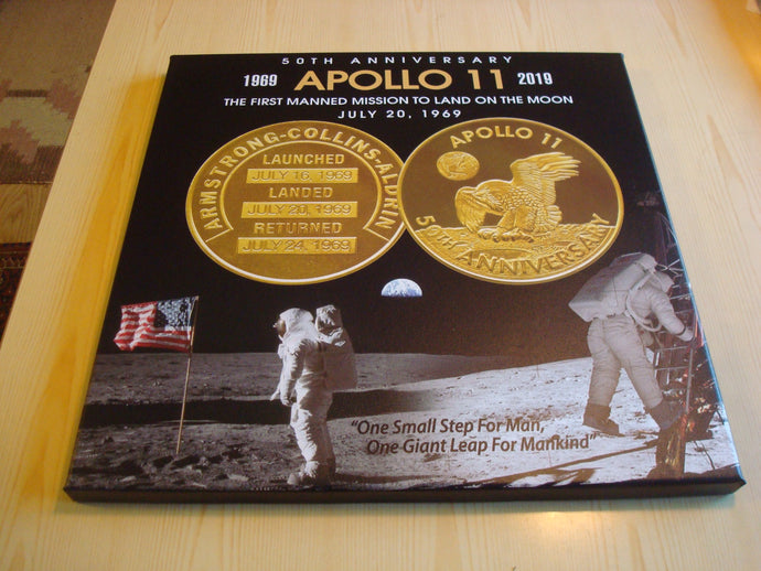 Apollo 11 Limited Edition canvastavla storlek 40 cm x 40 cm