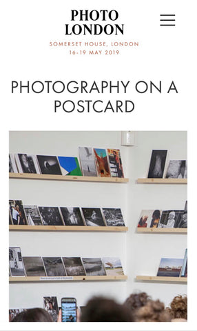 Photography on a Postcard at Photo London