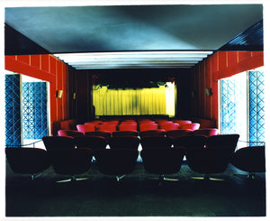 Mid-century cinema movie theatre interior photography