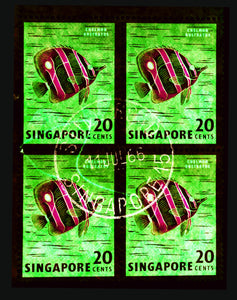 20 Cents Singapore Butterfly Fish (Green), 2018