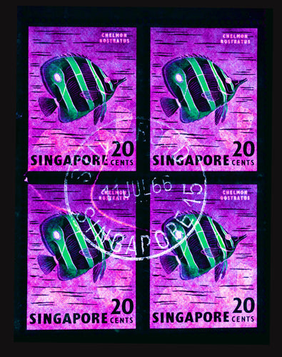 20 Cents Singapore Butterfly Fish (Purple), 2018