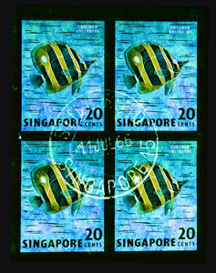 20 Cents Singapore Butterfly Fish (Turquoise), 2018