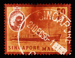 50 Cents QEII Steamer Ship Orange