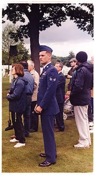 American Airforce Serviceman, Cambridge American Cemetery, 1994