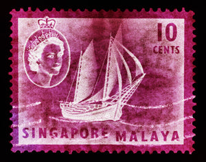 10 Cents QEII Ship Series Magenta