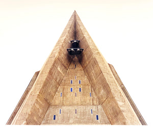Bell Tower, Chiesa San Giovanni Bono, Milan, photographed by Richard Heeps as part of his series 'A Short History of Milan'. There is a reoccurring linear, structural theme throughout the series, capturing the Milanese use of materials in design such as glass, metal, wood and stone.