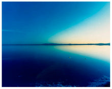 Load image into Gallery viewer, Endless shades of blue in this dreamy American landscape photograph taken at the Bonneville Salt Flats.