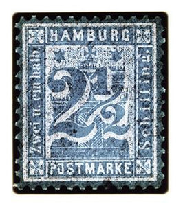 1864 Hamburg Two & a Half Shilling (Grey), 2016